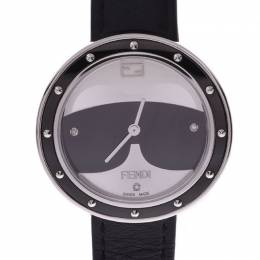 Fendi Silver/Black Stainless Steel My Way Cartio Women's Wristwatch 36 MM 239052
