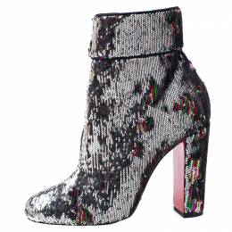 Christian Louboutin Multicolor Sequins Moulamax Ankle Boots Size 37.5 240820