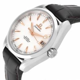 Omega Silver and Stainless Steel Aqua Terra Co-Axial 231.13.39.21.02.002 Men's Wristwatch 38.5MM 240129