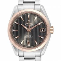 Omega Chocolate Brown Rose Gold and Stainless Steel Seamaster Aqua Terra 231.20.39.21.06.003 Men's Wristwatch 41.5MM 240159