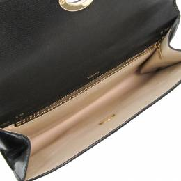 Valextra Black Leather Clutch Bag