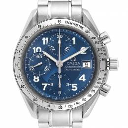 Omega Blue and Stainless Steel Speedmaster Date 3513.82.00 Men's Wristwatch 39MM 240177