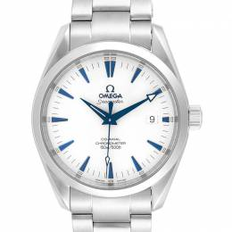 Omega White and Stainless Steel Seamaster Aqua Terra 2503.33.00 Men's Wristwatch 39.2MM 240155