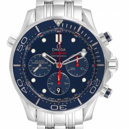 Omega Blue and Stainless Steel Seamaster Diver 300M 212.30.44.50.03.001 Men's Wristwatch 44MM 240163