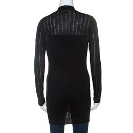 M Missoni Black Knit Open Front Cardigan M 240726