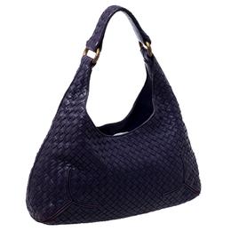 Bottega Veneta Purple Intrecciato Leather Shoulder Bag 237798
