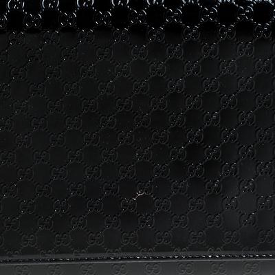 Gucci Black Microguccissima Patent Leather Broadway Clutch 235357 - 4