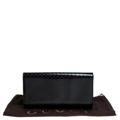 Gucci Black Microguccissima Patent Leather Broadway Clutch 235357 - 8