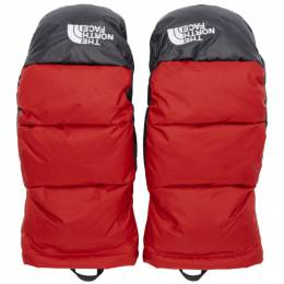 The North Face Red Down Nuptse Mittens 192802M13500503GB