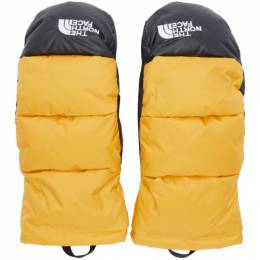 The North Face Yellow Down Nuptse Mittens 192802M13500703GB
