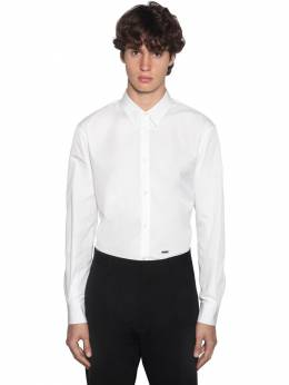 Relaxed Dan Cotton Poplin Shirt Dsquared2 71IG7E141-MTAw0