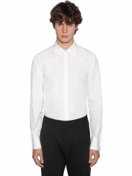 Slim Fit Relaxed Dan Cotton Poplin Shirt Dsquared2 71IG7E133-MTAw0