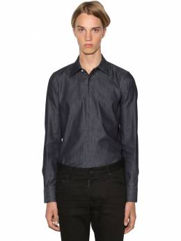 Slim Fit Relaxed Cotton Denim Shirt Dsquared2 71IG7E129-NDcw0