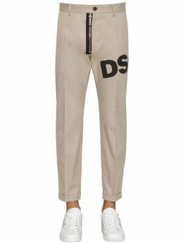 17cm Admiral Fit Cotton Twill Pants Dsquared2 71IG7E118-MTE00