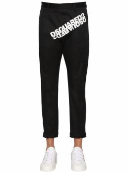 Print Hockney Stretch Cotton Twill Pants Dsquared2 71IG7E104-OTAw0