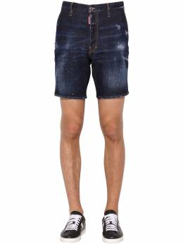 26cm Marine Fit Cotton Denim Shorts Dsquared2 71IG7E039-NDcw0
