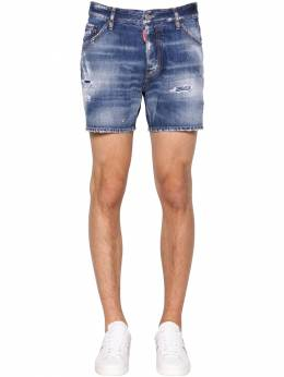 26.5cm Dan Commando Cotton Denim Shorts Dsquared2 71IG7E031-NDcw0
