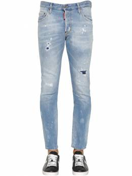16cm Skater Denim Jeans W/ Back Patches Dsquared2 71IG7E003-NDcw0