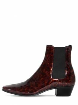 Ботинки Из Лакированной Кожи 40мм Saint Laurent 71I0C9003-MjA5NA2