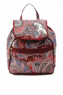 Красно-коричневый рюкзак с узорами Etro 907163697