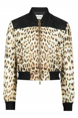 Бомбер с леопардовым принтом Roberto Cavalli 314163478