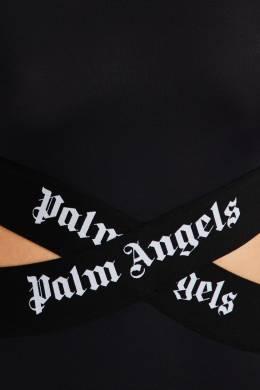 Боди с отделкой логотипной лентой Palm Angels 1864162154