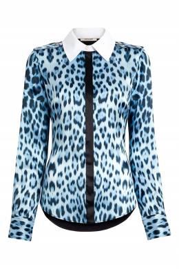 Голубая рубашка с погонами Roberto Cavalli 314163526