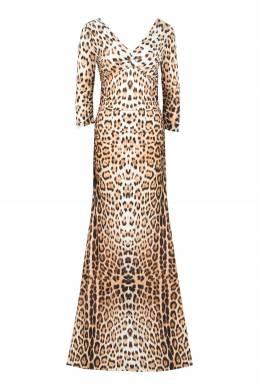 Макси-платье с леопардовым принтом Roberto Cavalli 314163487