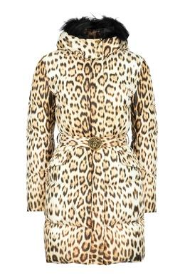 Куртка с леопардовым принтом Roberto Cavalli 314163480