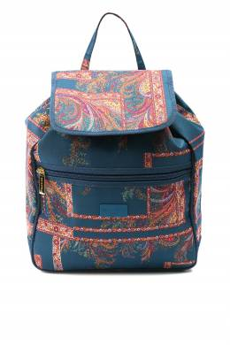 Синий рюкзак с узорами Etro 907163724