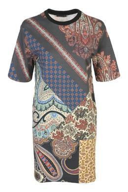 Серое платье-мини с узорами Etro 907163770