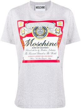 Moschino футболка с принтом A07784140
