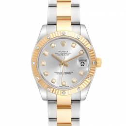 Rolex Silver 18K Yellow Gold Stainless Steel Datejust 178313 Women's Wristwatch 31 MM 240484