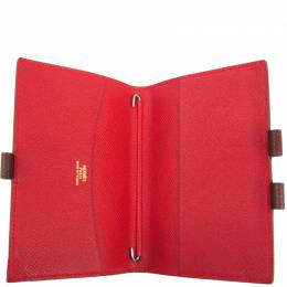 Hermes Brown Leather Agenda Planner Cover