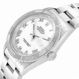 Rolex White 18K White Gold Turnograph Datejust 16264 Men's Wristwatch 36 MM 241482