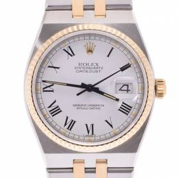 Rolex White Yellow Gold and Stainless Steel Datejust 17013 Men's Wristwatch 34MM 239774