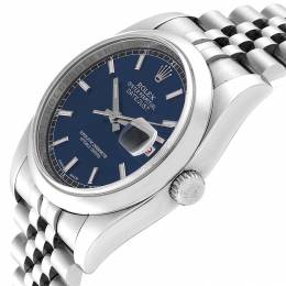Rolex Blue Stainless Steel 116200 Datejust Men's Wristwatch 36 MM 240471