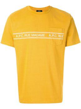 A.P.C. футболка Rue Madame CODELH26832