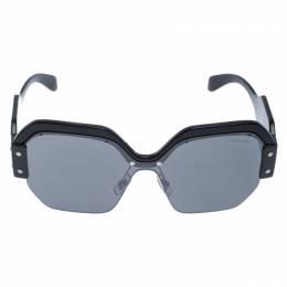 Miu Miu Black/Grey SMU09S Oversized Square Sorbet Sunglasses 239838