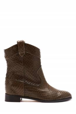 Полусапоги из фактурной кожи Jordan Bootie Flat Aquazzura 975163167