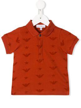 Emporio Armani Kids рубашка-поло с логотипом 6GHF811JPTZ