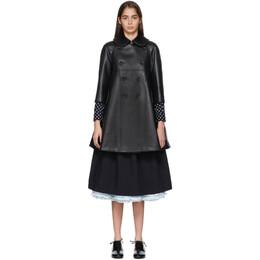 Comme Des Garcons Girl Black Faux-Leather Heart Cut-Out Coat 192670F05900203GB