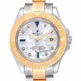 Rolex MOP Saphhire And Diamonds 18K Yellow Gold And Stainless Steel Yachtmaster 16623 Men's Wristwatch 40 MM 241491