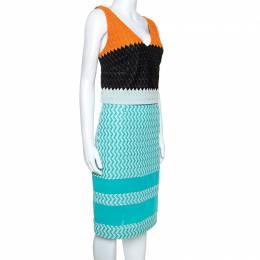 Missoni Blue Crochet Knit Sleeveless Dress M 241889