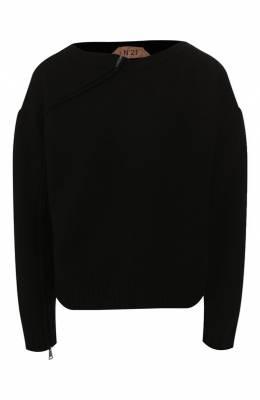 Шерстяной пуловер No. 21 19I N2S0/A010/7035