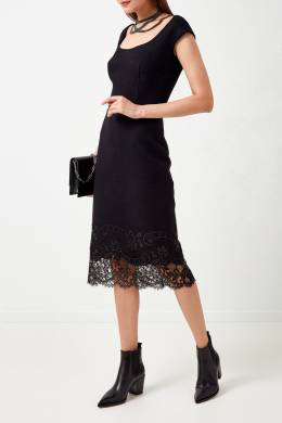 Платье-футляр с кружевной отделкой Ermanno Scervino 1328162340