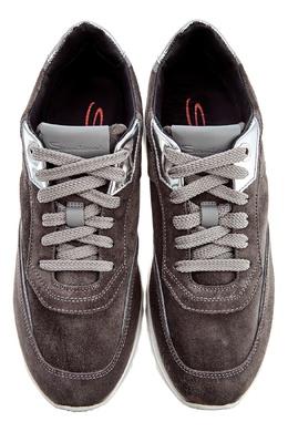 Серые кроссовки из замши Santoni 1165162278