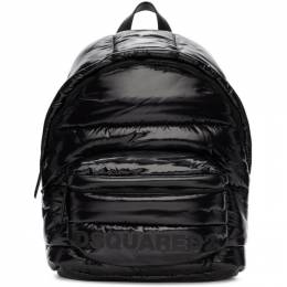 Dsquared2 Black Padded Mountain Ski Backpack 192148M16600201GB