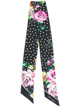 Dolce & Gabbana узкий шарф с цветочным принтом FS215AGDR59