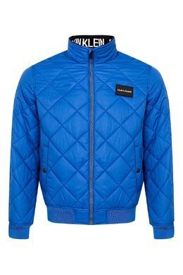 Зауженная у талии синяя куртка Calvin Klein Kids 2815164013